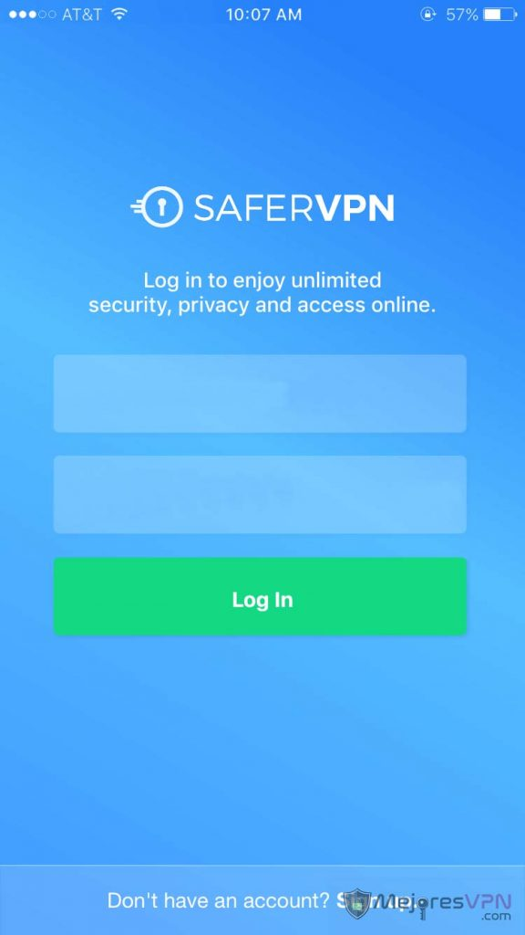 safervpn-ios-login